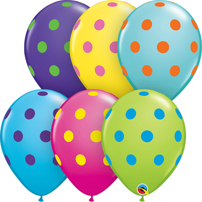 Polka Dot Latex Balloon (Assorted)