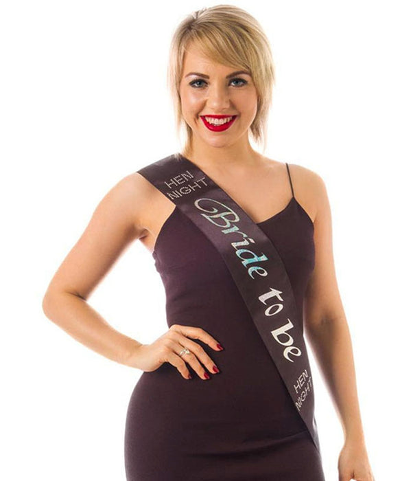 Bride To Be Sash (Black)