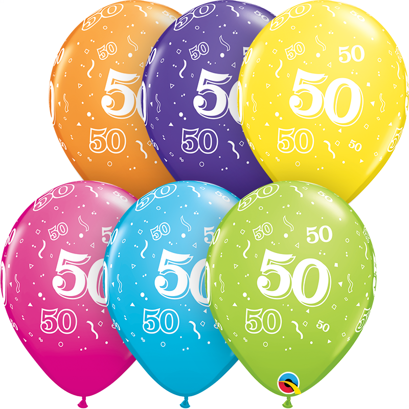 50th Birthday Latex Balloon