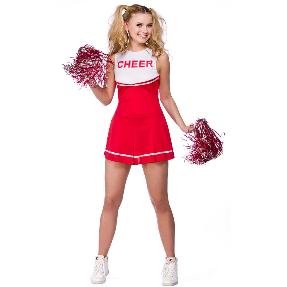 High School Cheerleader Costume (Red)