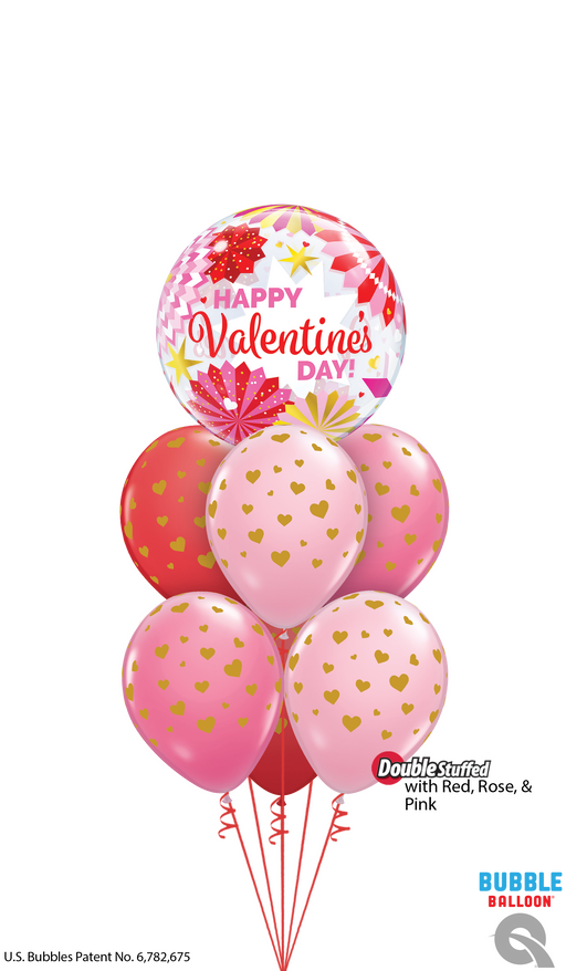 Luxury Valentine Bubble Balloon Cluster