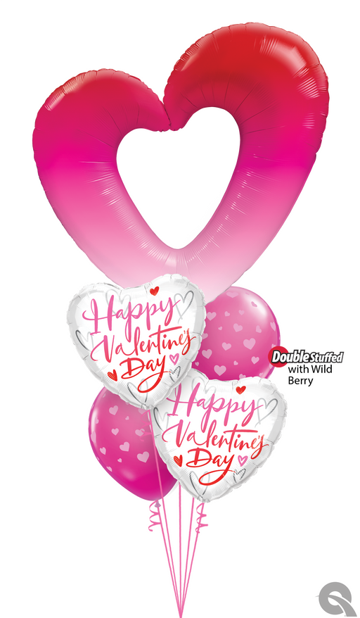 Luxury Valentine Heart Balloon Cluster