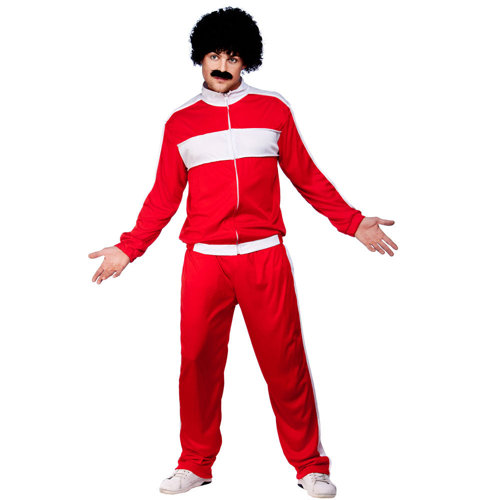 80s Retro Trackie Costume (Red)