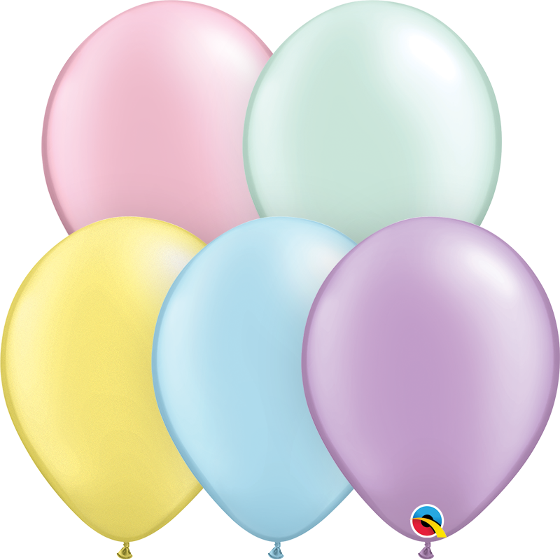 20 x Assorted Plain Latex Balloons (Pastel)