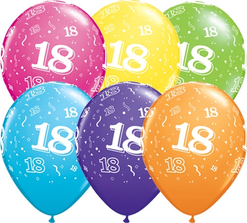 18th Birthday Latex Balloon (Assorted)