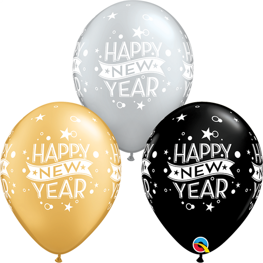 Happy New Year Latex Balloon (Assorted)