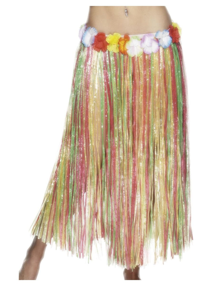 Long Hawaiian Hula Skirt (Multi)