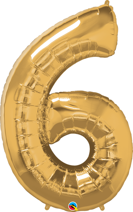 Number 0 - 9  Foil Balloon (Gold)