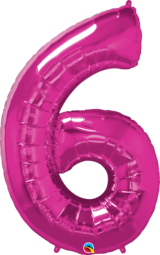 Number 0-9 Foil Balloon (Pink)