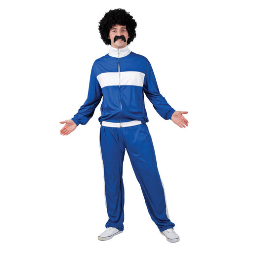 80s Retro Trackie Costume (Blue)