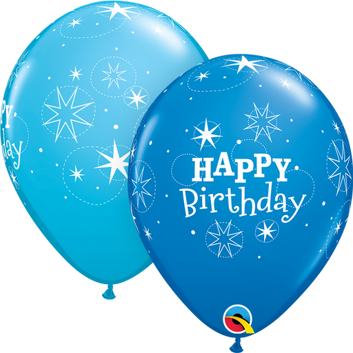 Happy Birthday Latex Balloon (Blue)