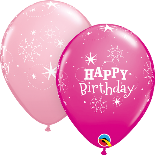 Happy Birthday Latex Balloon (Pink)