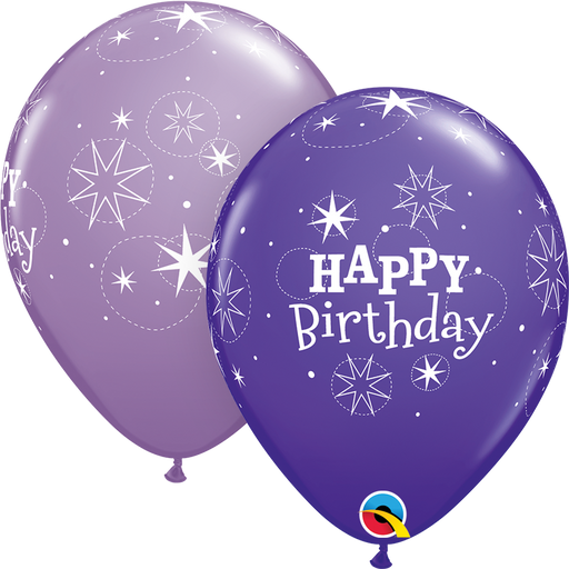 Happy Birthday Latex Balloon (Purple)