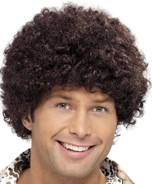 70s Disco Dude Wig (Brown)