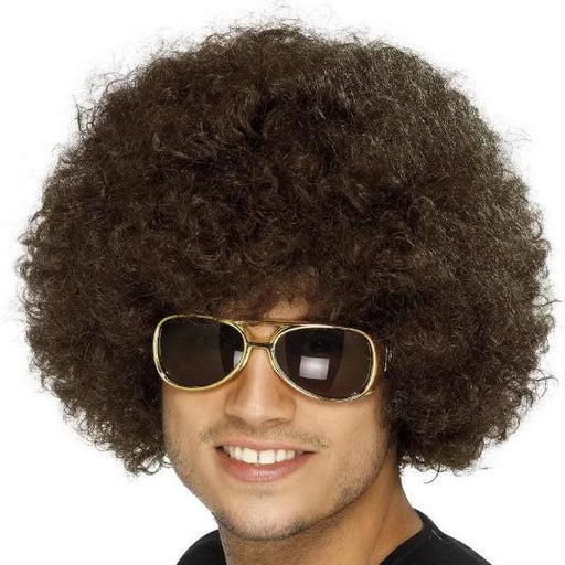 70s Funky Afro Wig (Brown)