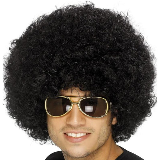 70s Funky Afro Wig (Black)