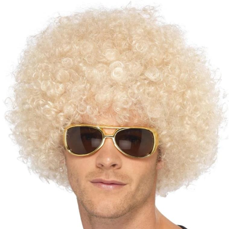70s Funky Afro Wig (Blonde)