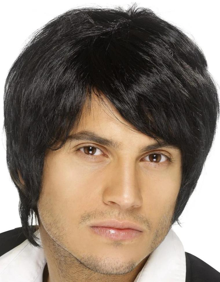 Boy Band Wig (Black)