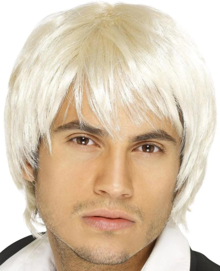 Boy Band Wig (Platinum Blonde)