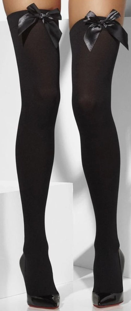Stockings with Bow (Black)