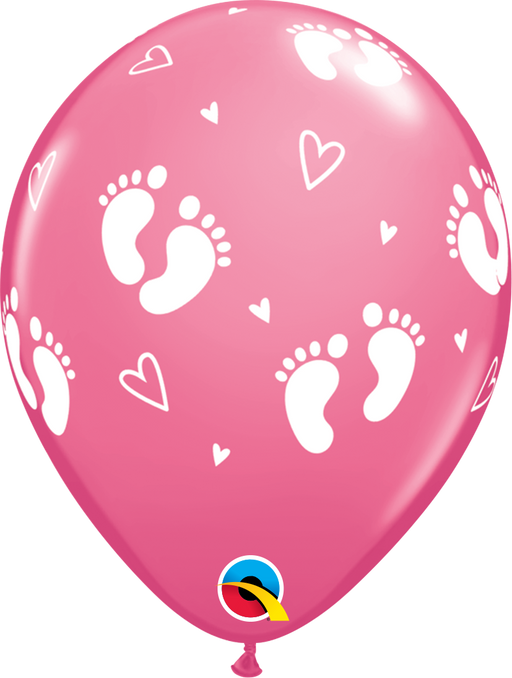 Baby Footprint Balloon (Pink)