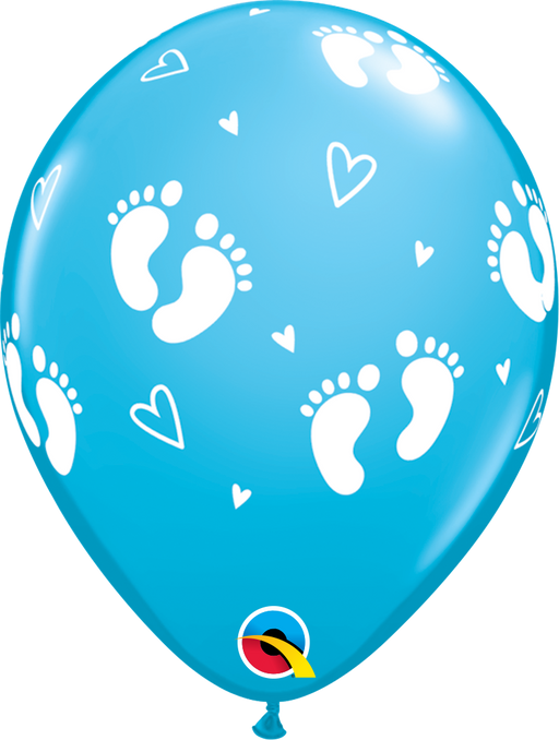 Baby Footprint Balloon (Blue)