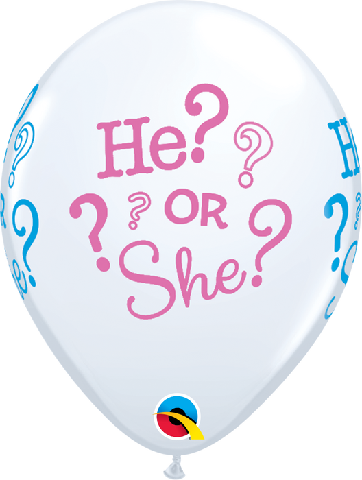 He Or She Latex Balloon