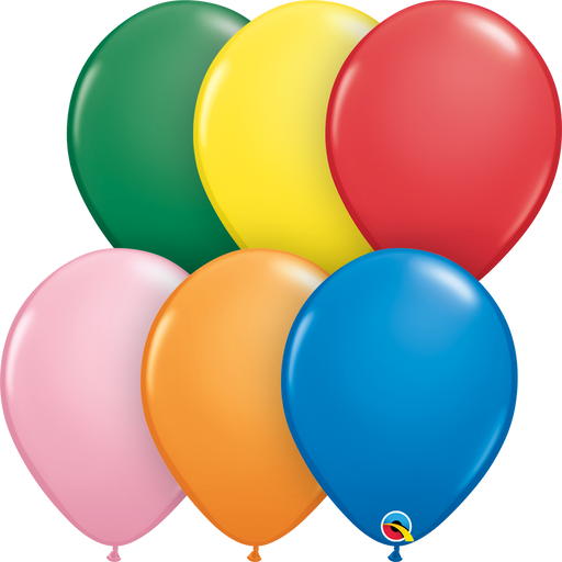 20 x Assorted Plain Latex Balloons (Standard)
