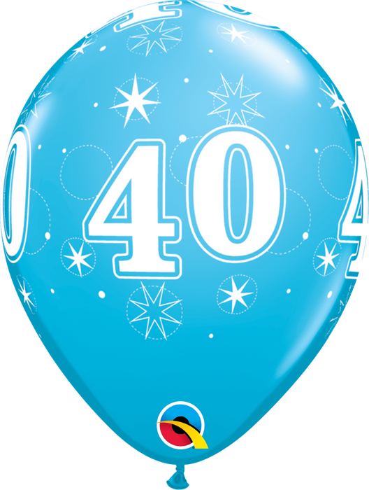 Age Blue or Pink Birthday Latex Balloon