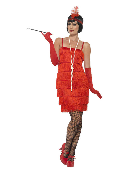 Short Flapper Costume (Red)