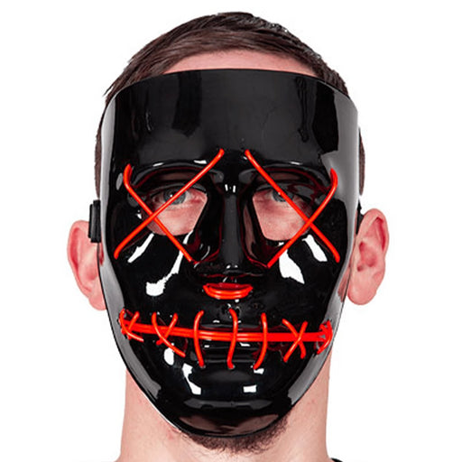 Neon Light Up Mask (Red)