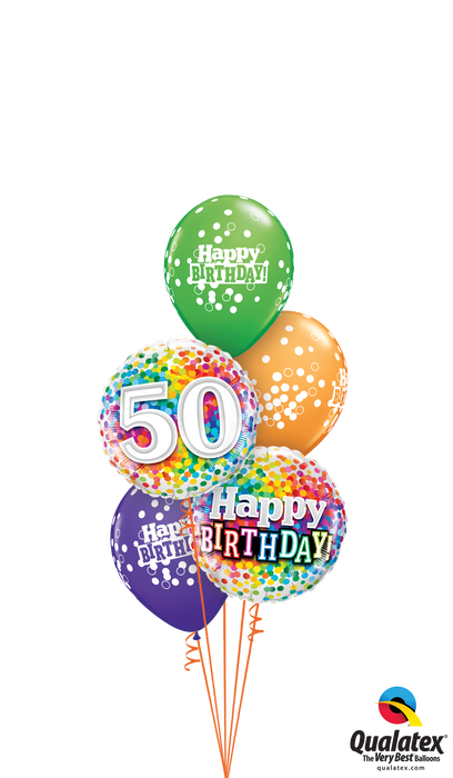Confetti Dot Age 6-100 Birthday Bouquet