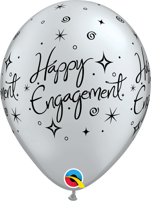 Happy Engagement Latex Balloon (Silver)