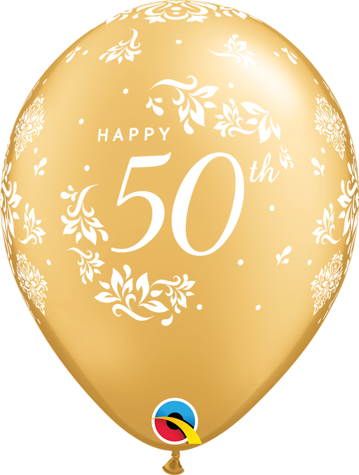50th Wedding Anniversary Latex Balloon