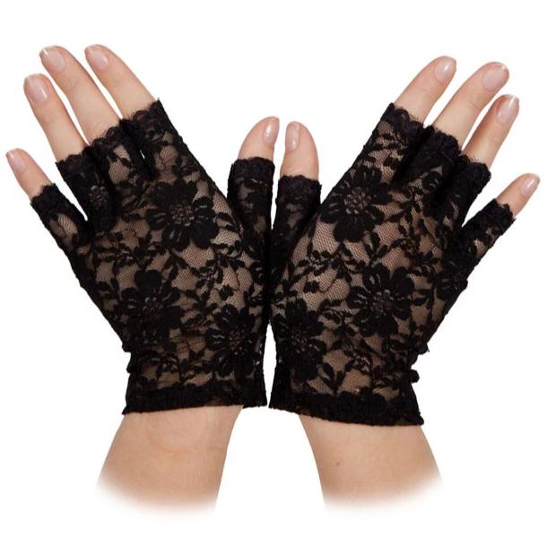 Short Lace Gloves (Black)