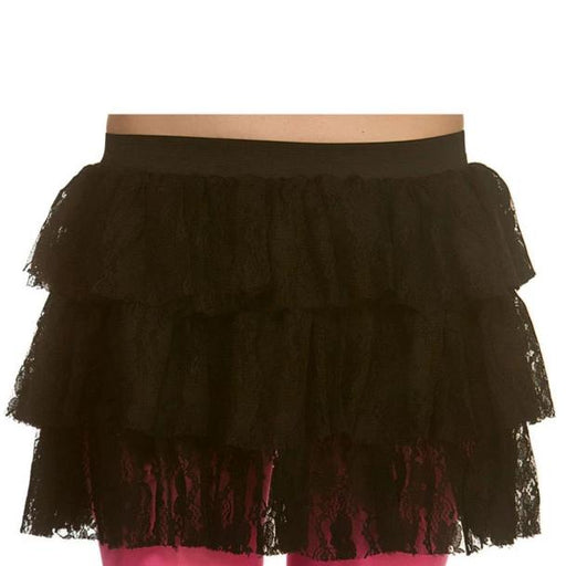 80s Lacy Ra-Ra Skirt (Black)