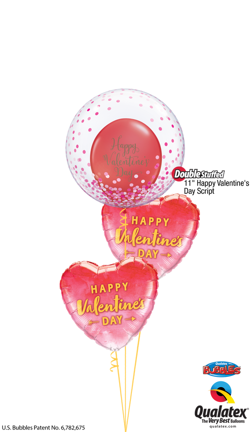 Bubble Valentine Balloon Cluster