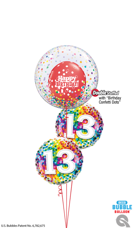 Confetti Age Happy Birthday Bubble Bouquet