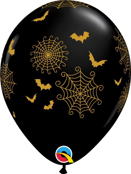 Spiderwebs & Bats Latex Balloon