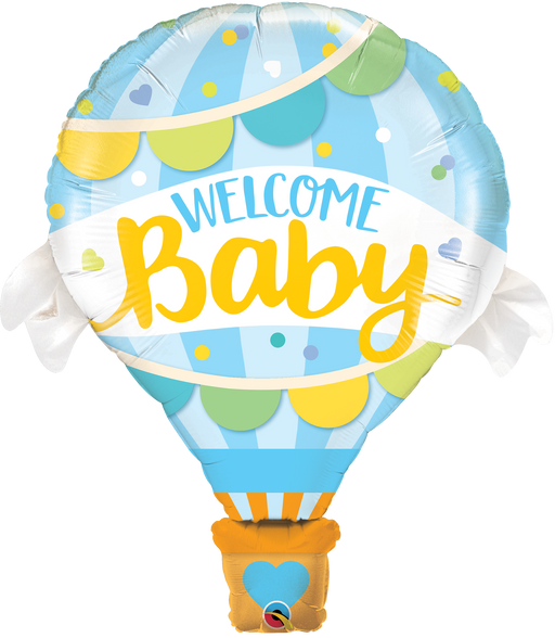 Welcome Baby Foil Balloon (Blue)