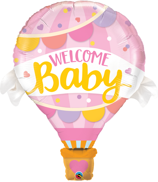 Welcome Baby Foil Balloon (Pink)