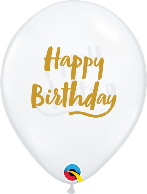 Happy Birthday Latex Balloon (Clear)