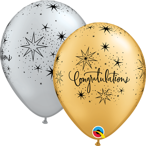 Congratulations Latex Balloon (Assorted)