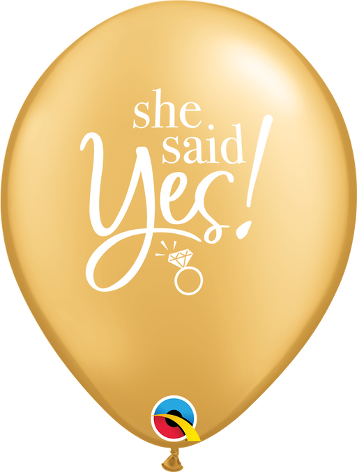 She Said Yes Latex Balloon