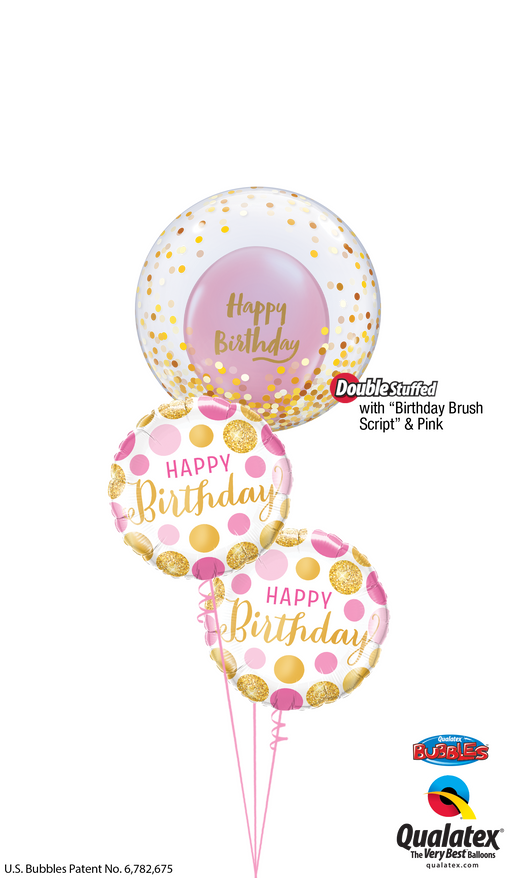 Confetti Happy Birthday Bubble Bouquet