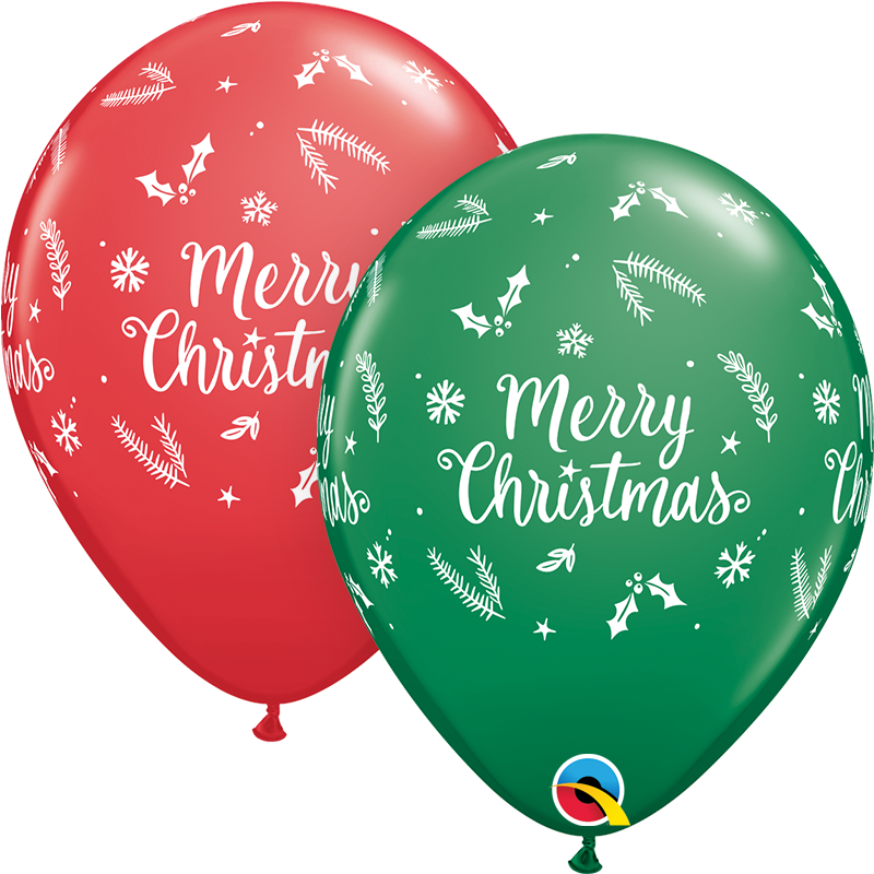 Merry Christmas Latex Balloon