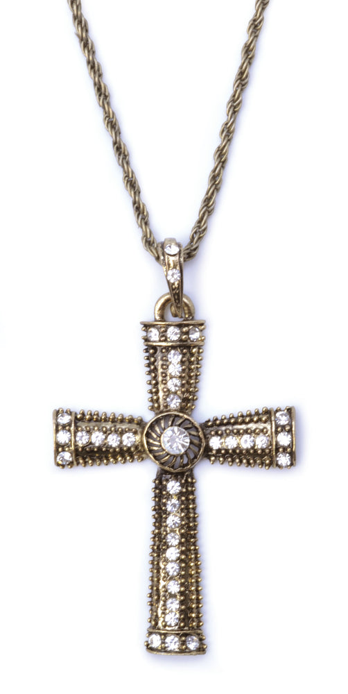Cross Jewelled Necklace