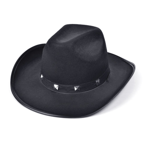 Cowboy Studded Hat (Black)