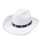 Cowboy Studded Hat (White)