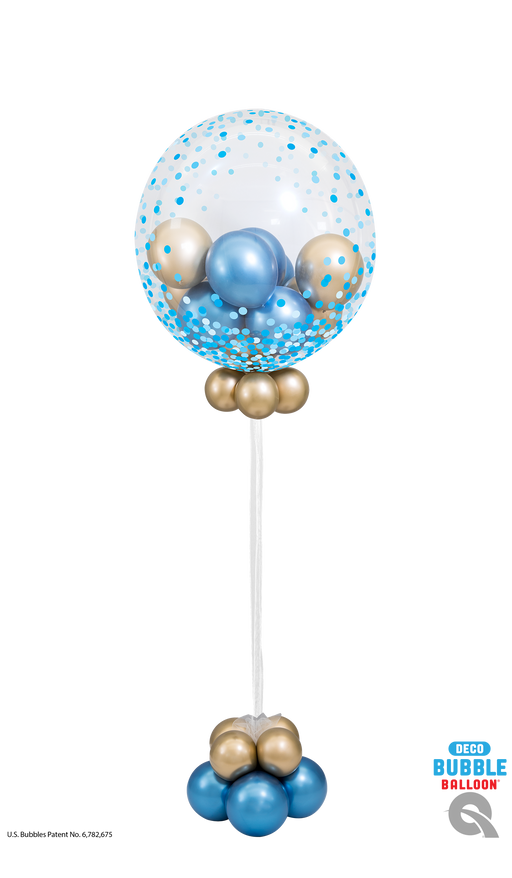 Confetti Dot Blue Bubble Balloon
